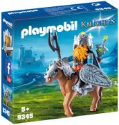 PLAYMOBIL Knights 9345 - Combattant nain et poney pas cher