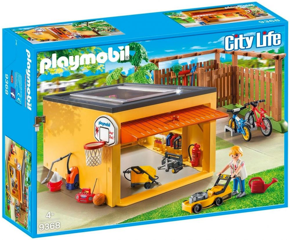 playmobil city life 9368 pas cher garage avec emplacements pour v los. Black Bedroom Furniture Sets. Home Design Ideas