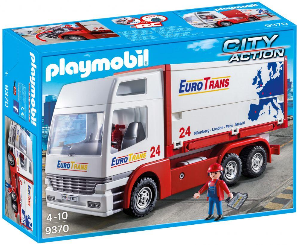 Playmobil city action 9370 pas cher camion de transport de marchandises - Playmobil camion ...