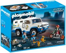 PLAYMOBIL City Action 9371 Fourgon blindé avec convoyeurs de fonds