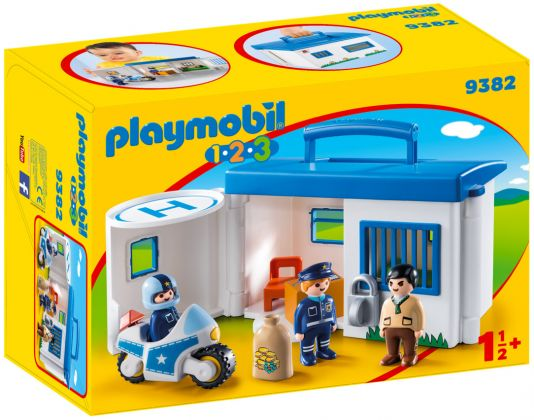 PLAYMOBIL 123 9382 Commissariat de police transportable