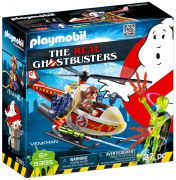 PLAYMOBIL Ghostbusters 9385 Venkman avec helicoptère