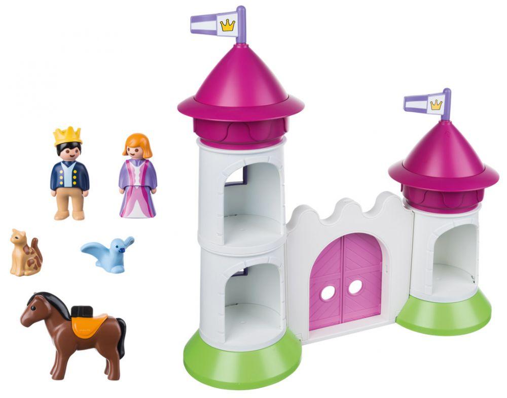 PLAYMOBIL 123 9389 pas cher - Château de princesse avec tours empilables