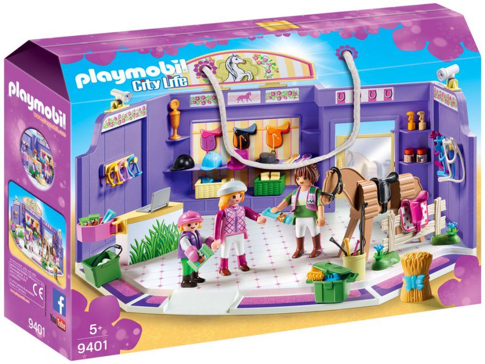 Playmobil City Life 9401 Pas Cher Boutique D Equitation