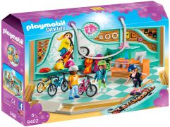 PLAYMOBIL City Life 9402 Boutique de skate et vélos