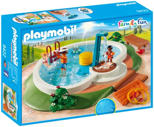 PLAYMOBIL Family Fun 9422 Piscine avec douche