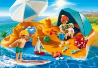 PLAYMOBIL Family Fun 9425 Famille de vacanciers et tente