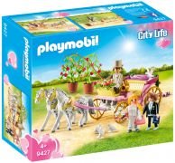 PLAYMOBIL City Life 9427 Carrosse et couple de mariés