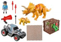 PLAYMOBIL The Explorers 9434 Bandit avec tricératops