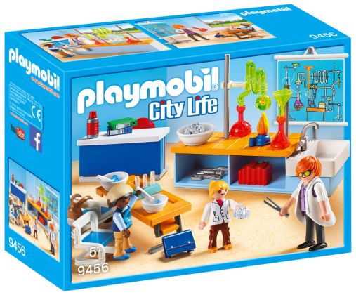 PLAYMOBIL City Life 9456 Classe de Physique Chimie
