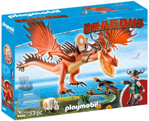 PLAYMOBIL Dragons (DreamWorks) 9459 Rustik et Krochefer