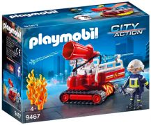 PLAYMOBIL City Action 9467 Pompier avec robot d'intervention
