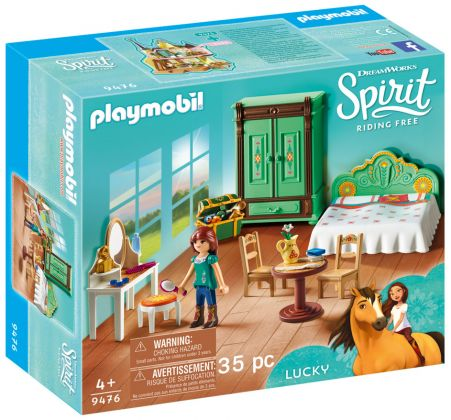 PLAYMOBIL Spirit - Riding Free 9476 Chambre de Lucky
