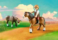 PLAYMOBIL Spirit - Riding Free 9477 Jim et charrette