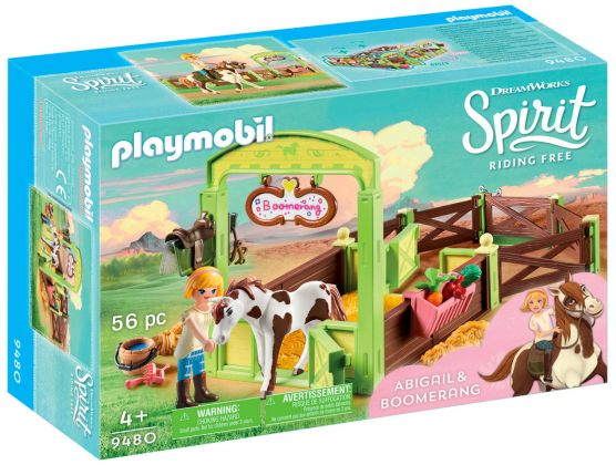 PLAYMOBIL Spirit - Riding Free 9480 Abigaëlle et Boomerang avec box
