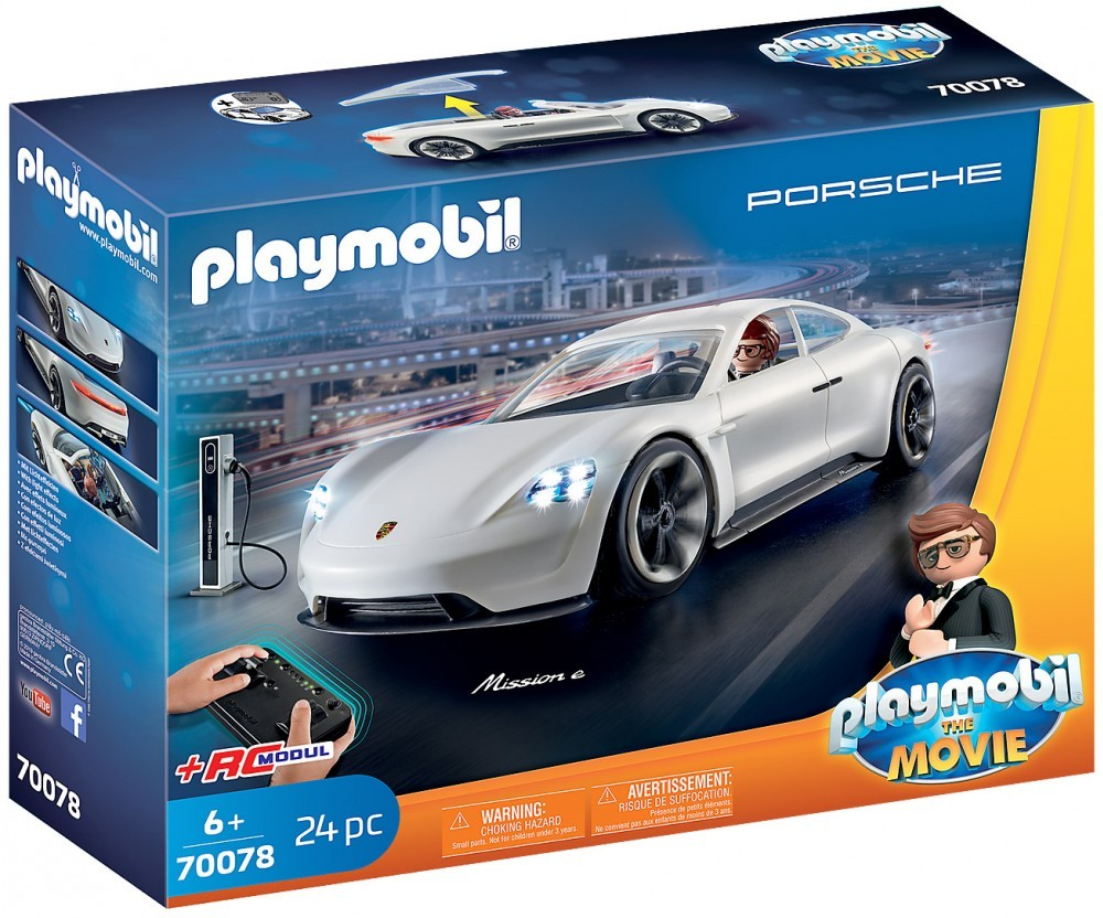Nouveau Playmobil Le Film 70078 Rex Dasher et Porsche Mission E