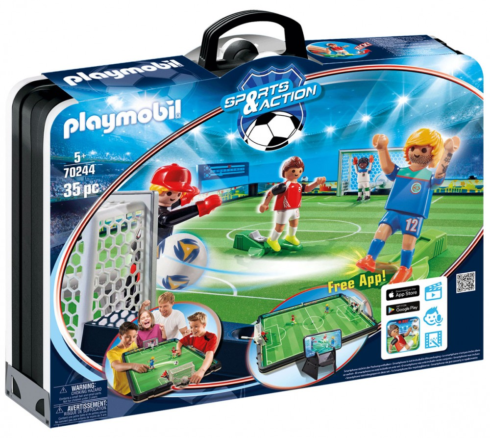 PLAYMOBIL Sports & Action 70244 Grand terrain de football transportable Nouveauté 2021